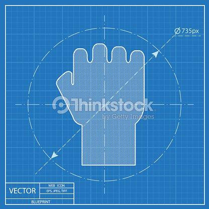 Fist vector blueprint icon vector art thinkstock fist vector blueprint icon vector art malvernweather Choice Image