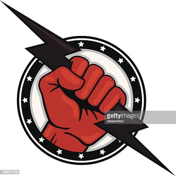 Fist with Lightning Bolt