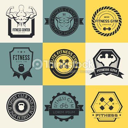Fitness And Sport Gym Logos Vector Art
