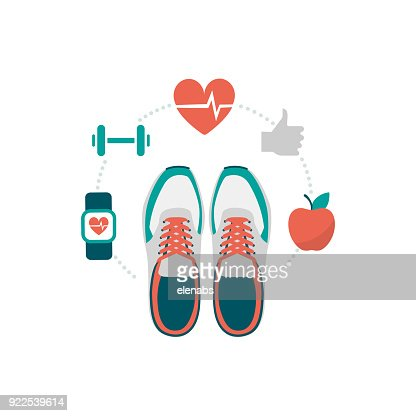 Fitness and sport : Vector Art