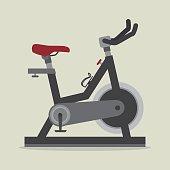 Fitness design over beige background, vector illustration.