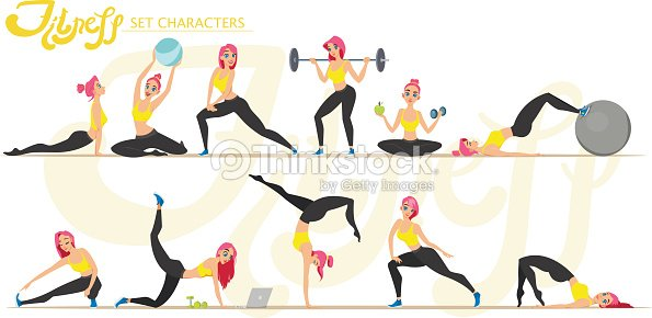 Fitness girl. Healthy lifestyle. Workout set