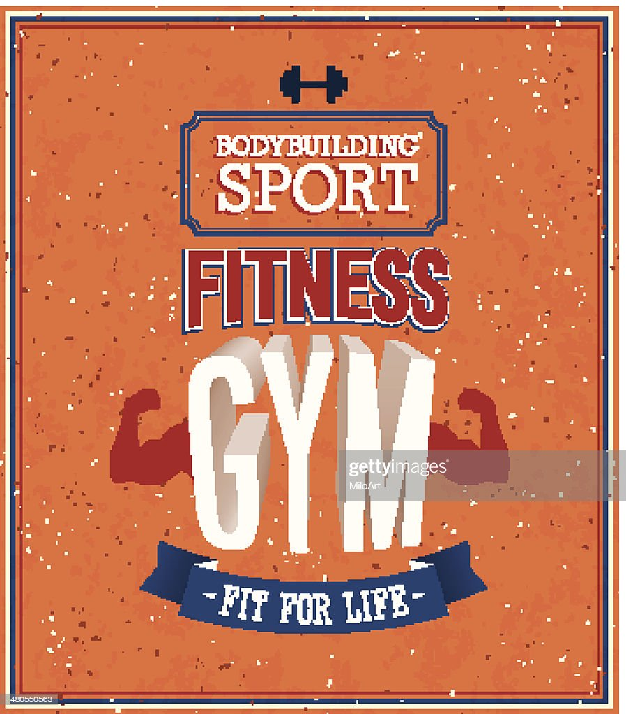 Fitness gym design. : Vector Art