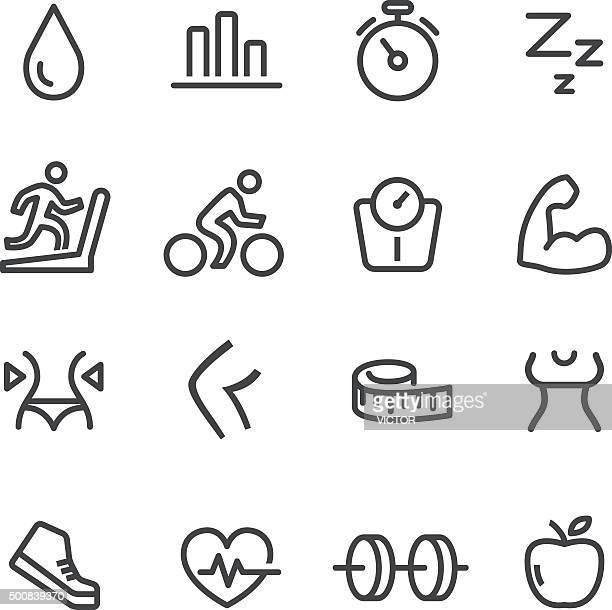 Fitness Icons Set - Line Series