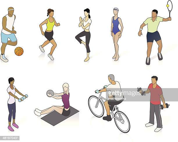 Fitness People Illustration