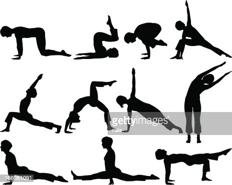 Fitness silhouettes : Vector Art