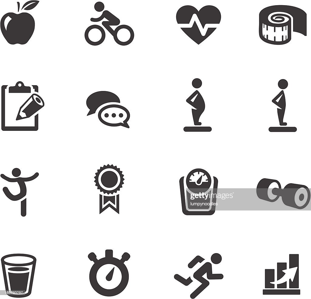 Fitness Symbols Vector Art   Getty Images