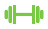 Fitness weight icon, lifting symbol. Gym illustration, vector .