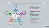 Five options circles process chart slide template. Business data. Graph, diagram. Creative concept for infographic, presentation. Can be used for topics like strategy, teamwork.