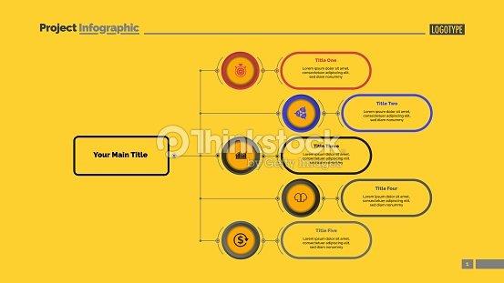 Five Options Flowchart Slide Template Vector Art | Thinkstock