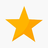 Five point star rating icon. Vector illustration