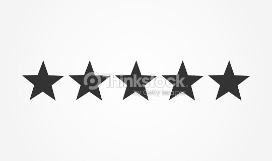 Five stars rating icon : stock vector