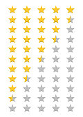 Five Stars Product Quality Rating. Vector illustration
