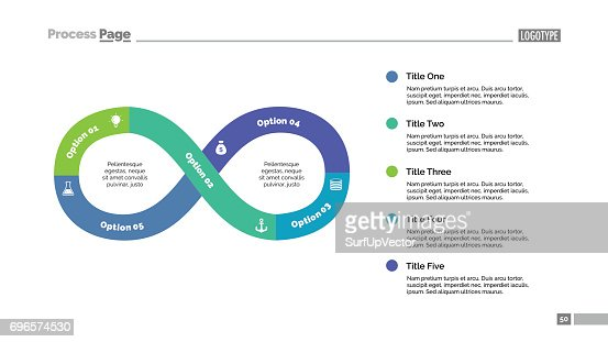 Five Steps Infinity Sign Slide Template : stock vector