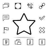 five-pointed star icon. web icons universal set for web and mobile on white background