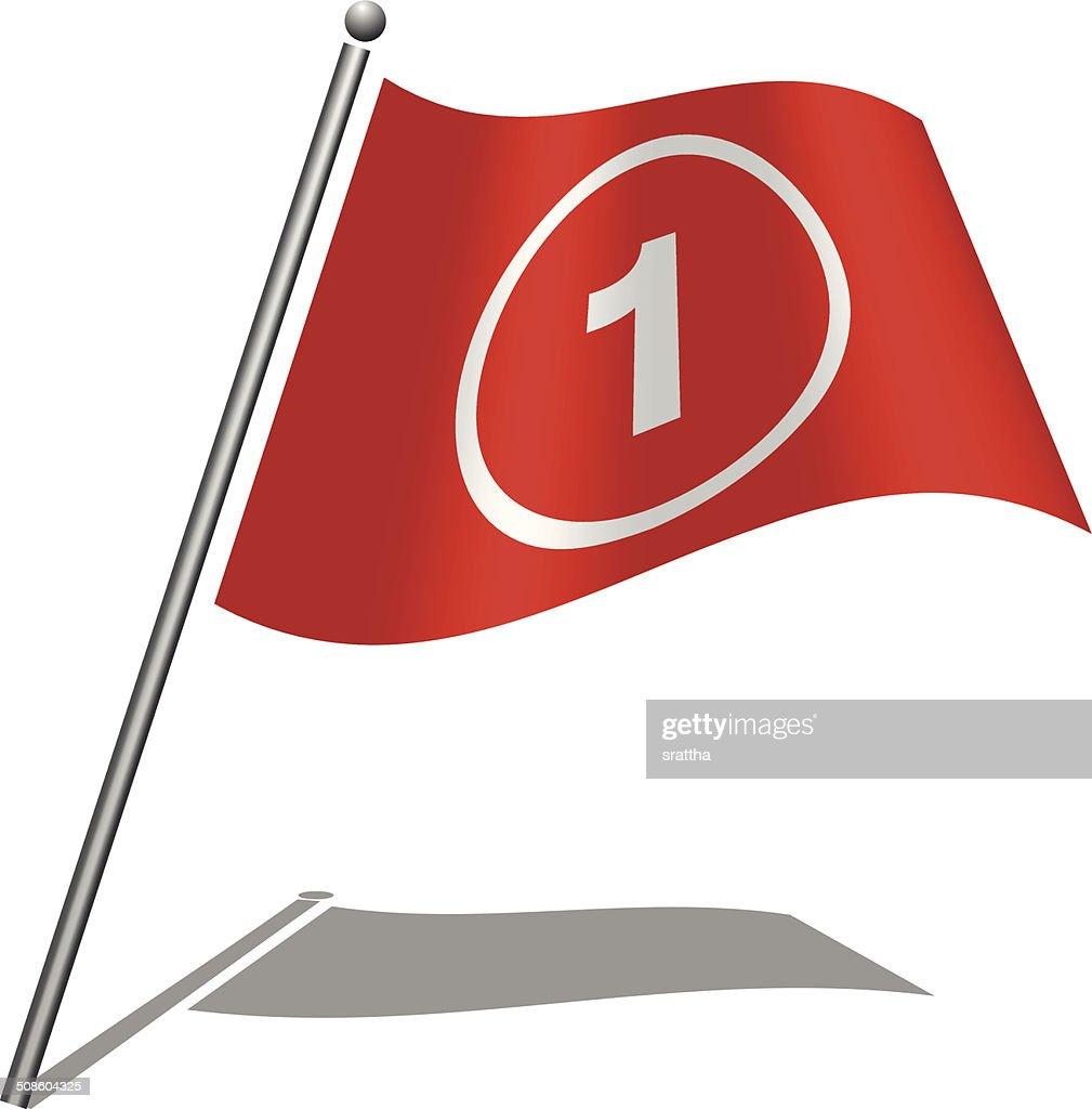 Bandera alfabeto letras 1 : Arte vectorial