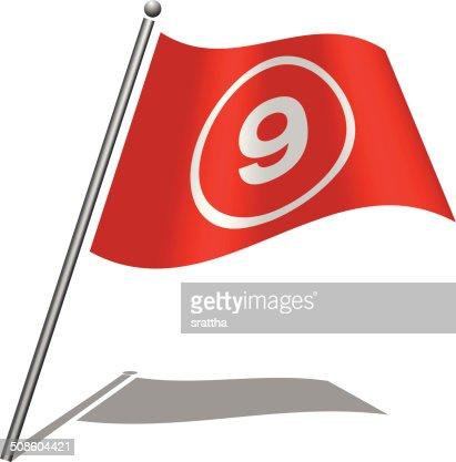 Flag Alphabet Font 9 : Vector Art