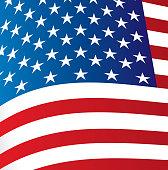 Big Flag of United States background vector illustration