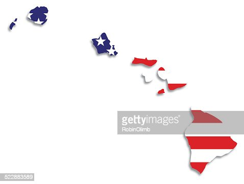 Usa Flag Hawaii Map Vector Art | Getty Images