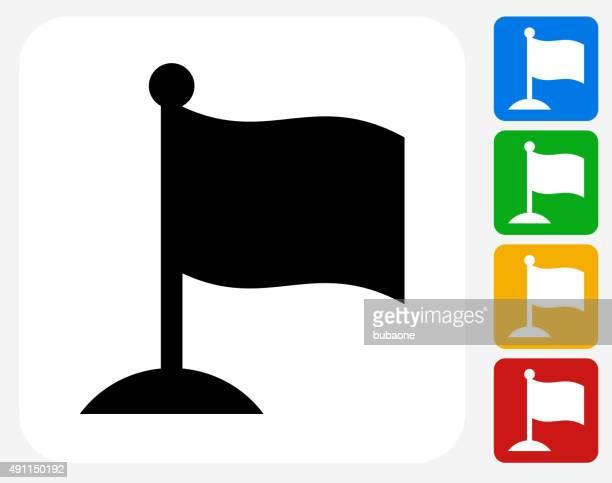 Icône de drapeau à motif graphique