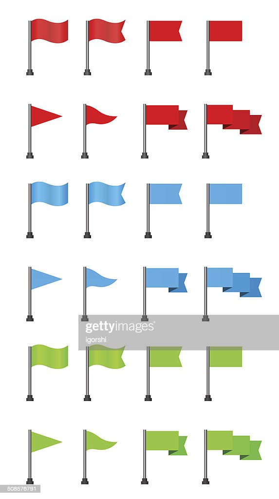 flag icon set : Vectorkunst