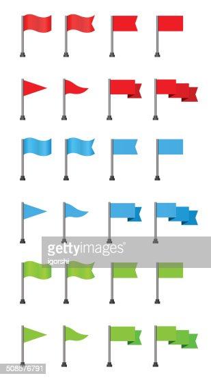 flag icon set : Vector Art