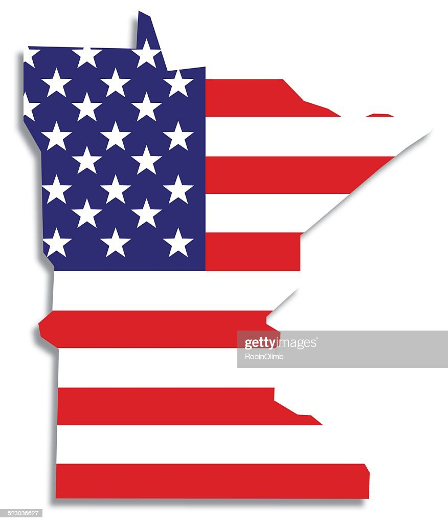 Usa Flag Idaho Map Vector Art Getty Images - Mn on us map