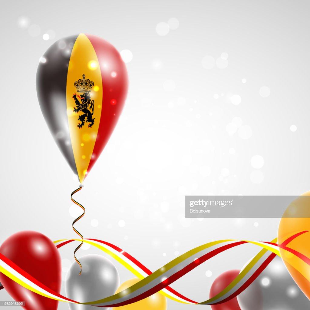 Bandera de Bélgica en globo aerostático : Arte vectorial
