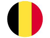 Vector illustration of the round flag of Belgium