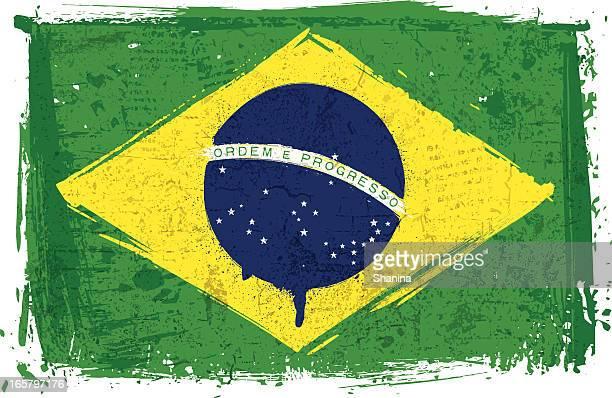 Flagge von Brasilien auf Wand