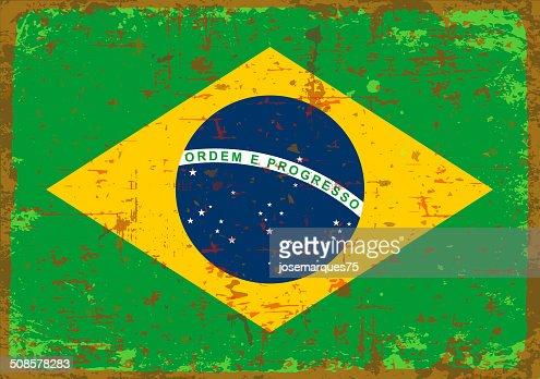 Flag of Brazil. : Vectorkunst
