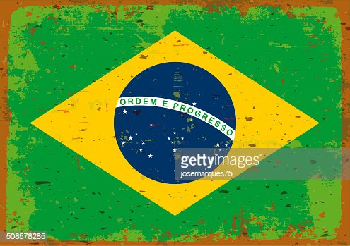 Flag of Brazil. : Vector Art
