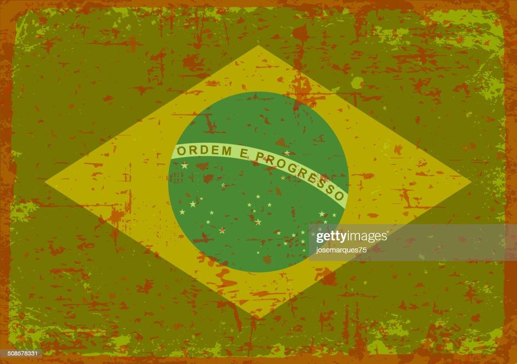 Flag of Brazil. : Vektorgrafik