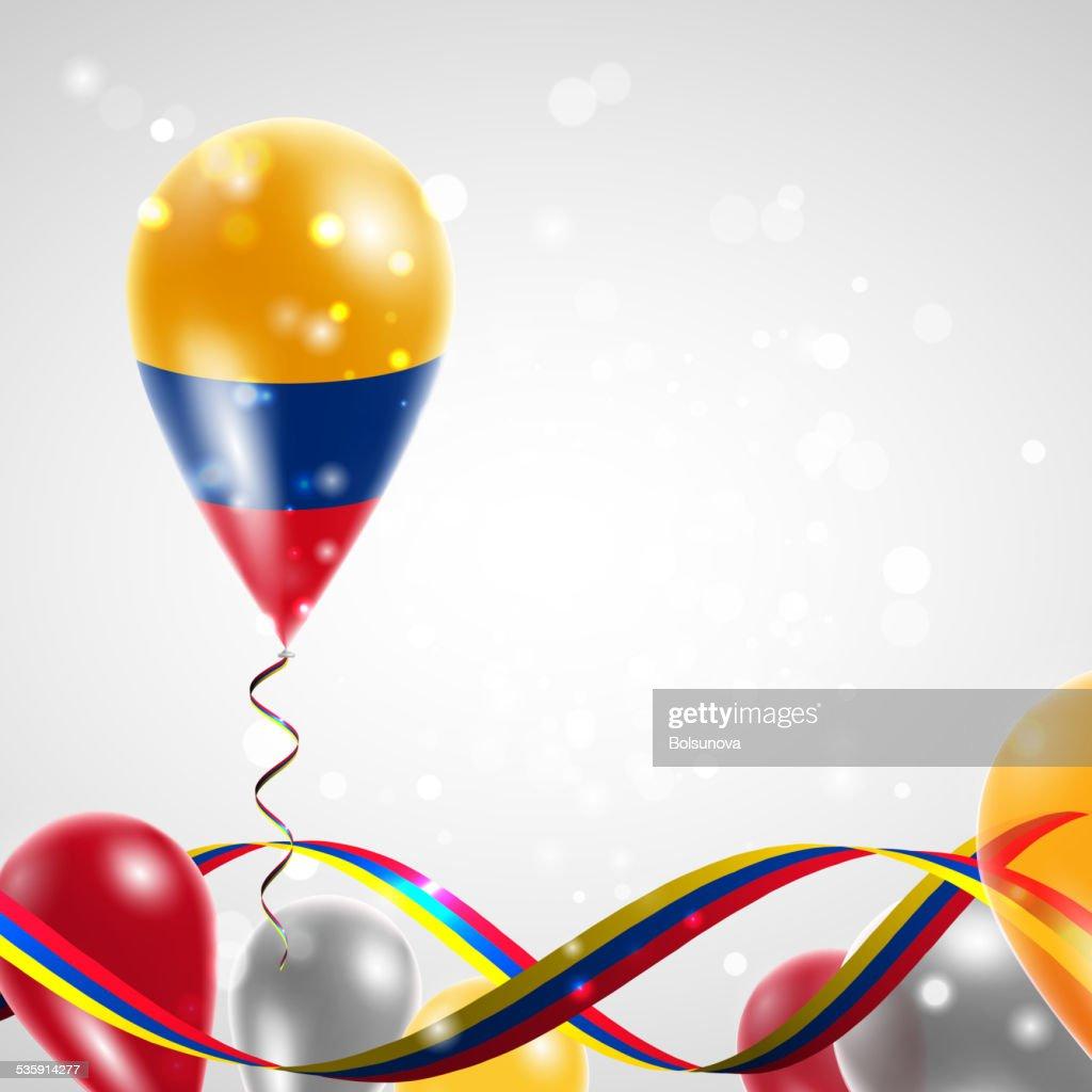 Bandeira da Colômbia em balão : Arte vetorial