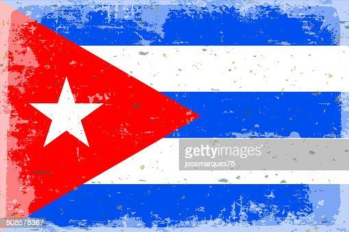 Flagge von Kuba : Vektorgrafik