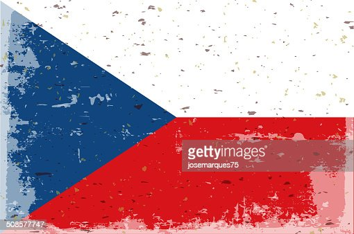 Flag of Czech republic : Vector Art