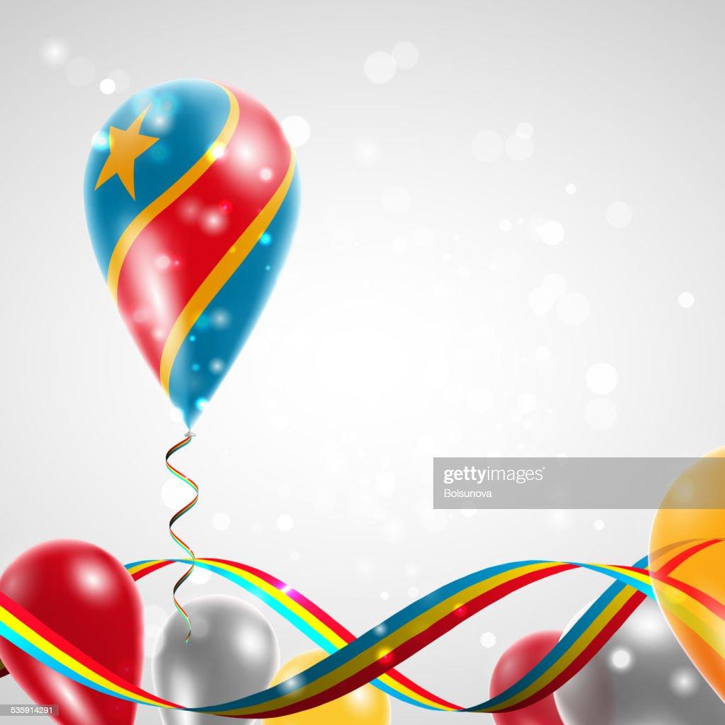 Bandeira da República Democrática do Congo de balão : Arte vetorial