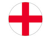 Vector illustration of the round flag of England