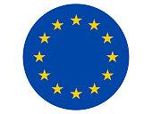 Vector illustration of round flag of European Union
