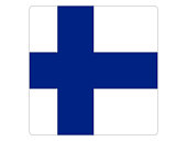 Vector illustration of the square flag of Finland