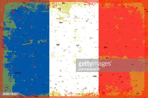 Drapeau de la France : Clipart vectoriel