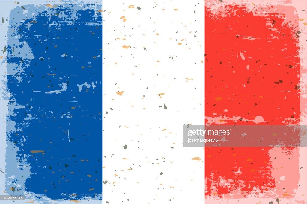Drapeau de la France : Clipart vectoriel