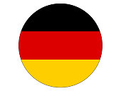 Vector illustration of the round flag of Germany