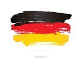 Flag of Germany. Vector illustration on white background. Beautiful brush strokes. Abstract concept. Elements for design.