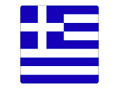 Vector illustration of the square flag of Greece