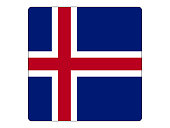 Vector illustration of the square flag of Iceland