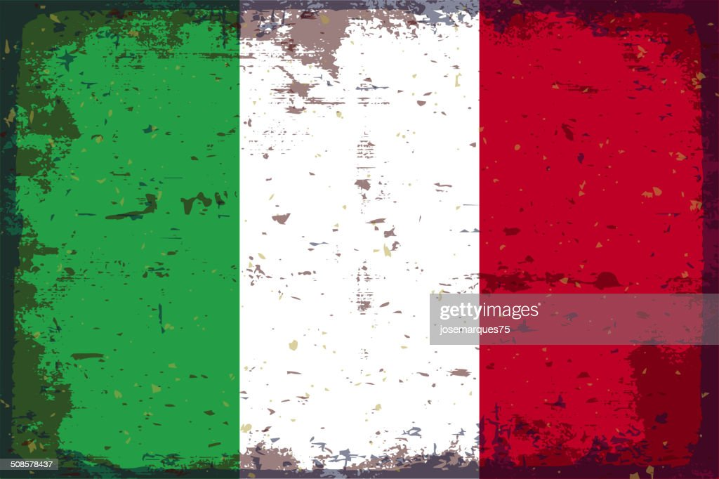 Flag of Italy : Vector Art
