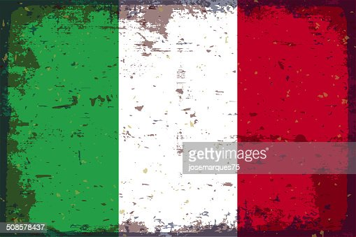 Flagge von Italien : Vektorgrafik