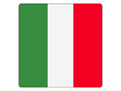 Vector illustration of the square flag of Italy