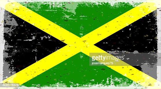 Flagge von Jamaica : Vektorgrafik